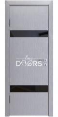 Дверь межкомнатная DO-502 Металлик/стекло Черное