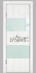 Дверь межкомнатная DO-508 Белый глубокий/стекло Белое