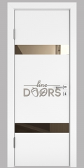 ШИ дверь DO-602 Белый бархат/зеркало Бронза