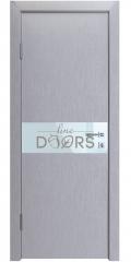 Дверь межкомнатная DO-509 Металлик/стекло Белое