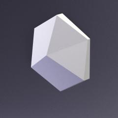 Гипсовая 3D панель CUBE-Ex1 материал матовый 200x173x35 мм (усреднённый)