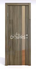 Дверь межкомнатная DO-507 Сосна глянец/зеркало Бронза