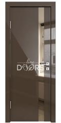 Дверь межкомнатная DO-507 Шоколад глянец/зеркало Бронза