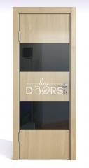 Дверь межкомнатная DO-508 Анегри светлый/стекло Черное
