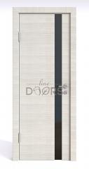 Дверь межкомнатная DO-507 Ива светлая/стекло Черное