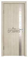 Дверь межкомнатная TL-DO-507 Клен/Смола металлик