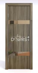 Дверь межкомнатная DO-502 Сосна глянец/зеркало Бронза