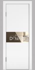 Дверь межкомнатная DO-501 Белый бархат/зеркало Бронза