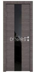 ШИ дверь DO-610 Ольха темная/стекло Черное