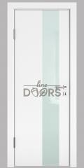 Дверь межкомнатная DO-504 Белый бархат/стекло Белое