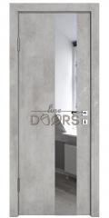 ШИ дверь DO-604 Бетон светлый/Зеркало