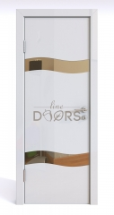 ШИ дверь DO-603 Белый глянец/зеркало Бронза