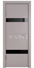 ШИ дверь DO-602 Серый бархат/стекло Черное