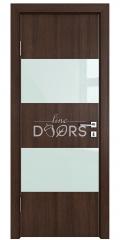 Дверь межкомнатная DO-508 Мокко/стекло Белое