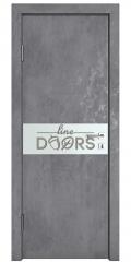 Дверь межкомнатная DO-509 Бетон темный/Снег