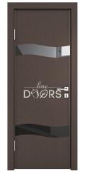 ШИ дверь DO-603 Бронза/стекло Черное
