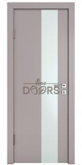 Дверь межкомнатная DO-504 Серый бархат/Снег