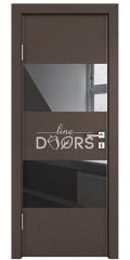 Дверь межкомнатная DO-508 Бронза/стекло Черное