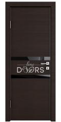 Дверь межкомнатная DO-513 Венге горизонтальный/стекло Черное