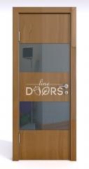 Дверь межкомнатная DO-508 Анегри темный/стекло Черное