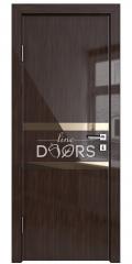 ШИ дверь DO-613 Венге глянец/зеркало Бронза
