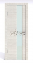 ШИ дверь DO-604 Ива светлая/стекло Белое