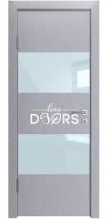 Дверь межкомнатная DO-508 Металлик/стекло Белое
