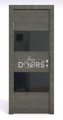 Дверь межкомнатная DO-508 Ольха темная/стекло Черное
