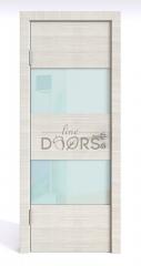 ШИ дверь DO-608 Ива светлая/стекло Белое