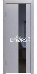Дверь межкомнатная DO-504 Металлик/стекло Черное