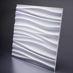 Гипсовая 3D панель SILK 2 Platinum материал патина/софттач 600x600x20 мм