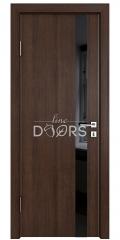 Дверь межкомнатная DO-507 Мокко/стекло Черное