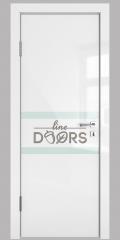 ШИ дверь DO-613 Белый глянец/стекло Белое