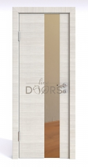 ШИ дверь DO-604 Ива светлая/зеркало Бронза