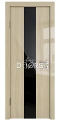 Дверь межкомнатная DO-510 Анегри светлый/стекло Черное
