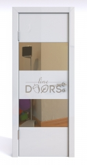 Дверь межкомнатная DO-508 Белый глянец/зеркало Бронза