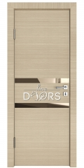 Дверь межкомнатная DO-513 Неаполь/зеркало Бронза