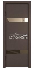 Дверь межкомнатная DO-502 Бронза/зеркало Бронза