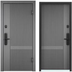 Дверь TOREX CYBER ПВХ Синхропоры титан / ПВХ Синхропоры титан