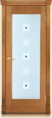 Дверь мебель массив Капри О Светлый дуб