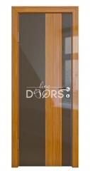 Дверь межкомнатная DO-504 Шоколад глянец/стекло Бамбук