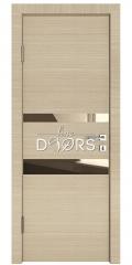Дверь межкомнатная DO-512 Неаполь/зеркало Бронза