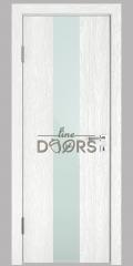 Дверь межкомнатная DO-510 Белый глубокий/стекло Белое
