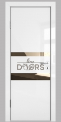 ШИ дверь DO-612 Белый глянец/зеркало Бронза