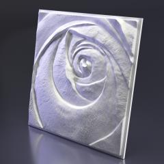 Гипсовое панно Rose Пятый элемент 600x600x47 мм