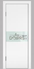Дверь межкомнатная DO-501 Белый бархат/стекло Белое