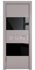 ШИ дверь DO-608 Серый бархат/стекло Черное