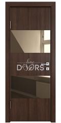 Дверь межкомнатная DO-508 Мокко/зеркало Бронза