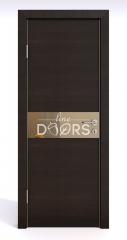 Дверь межкомнатная DO-509 Венге горизонтальный/зеркало Бронза