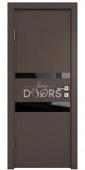 Дверь межкомнатная DO-512 Бронза/стекло Черное